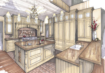 Conceptual Design For An English Style Kitchen