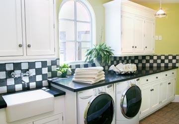 Black And White Laundry Room Design